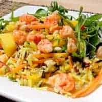 mango & crawfish salad