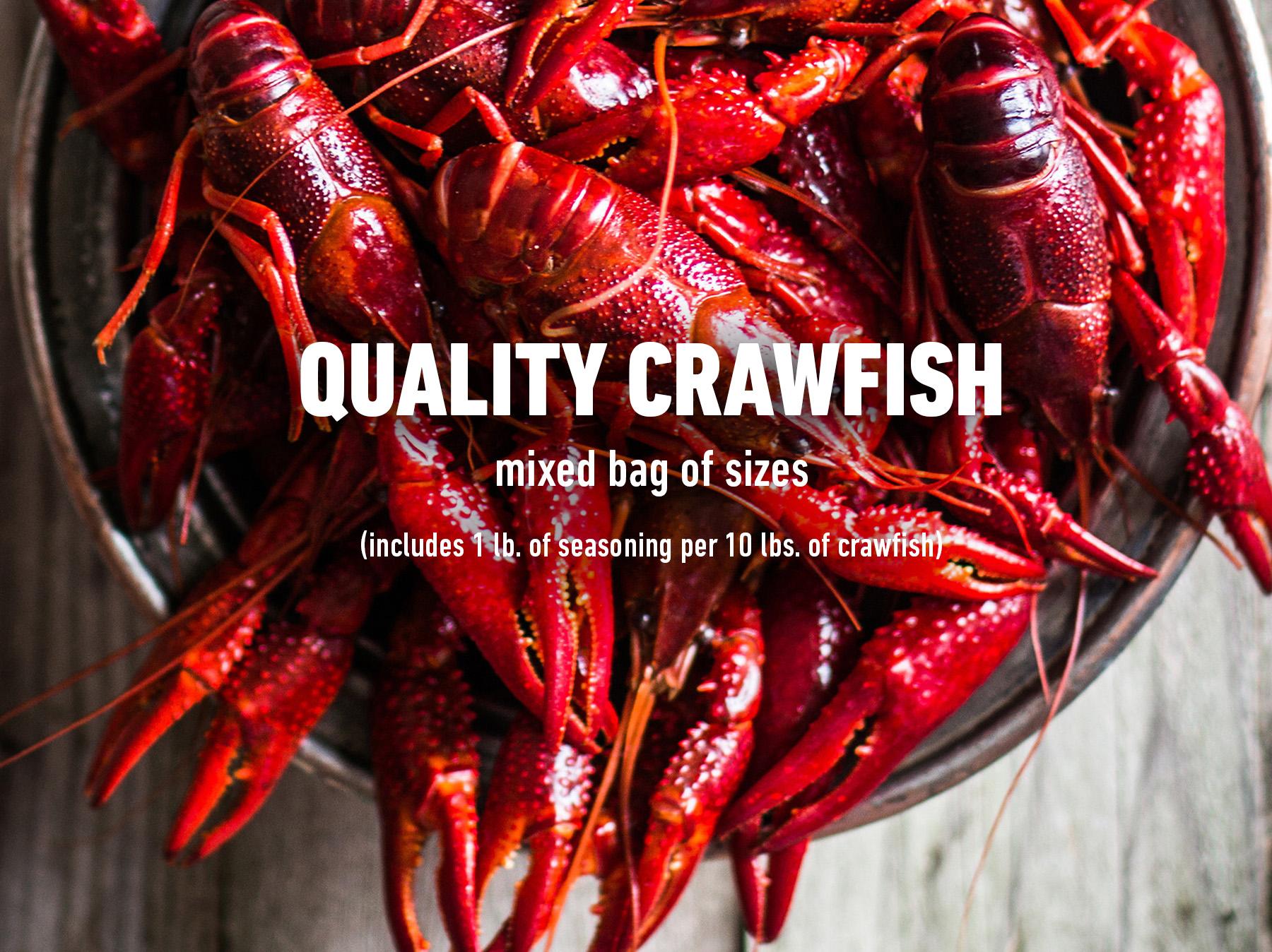 Quality crawfish